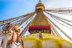 Boudhanath Stupa, Katmandu, Nepal Royaltyfri Bild
