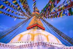 Boudhanath Stupa, Katmandu, Nepal Arkivfoto