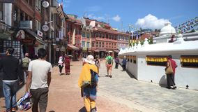 Boudhanath stupa in Katmandu, Nepal Ton 3D stock footage