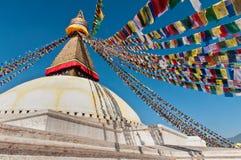 Boudhanath Stupa nella valle di Kathmandu, Nepal Fotografie Stock