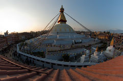 Boudhanath stupa in Nepal. Boudhanath is one of the holiest Buddhist sites in Kathmandu, Nepal Royalty Free Stock Image