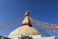 Boudhanath stupa from nepal Royalty Free Stock Images