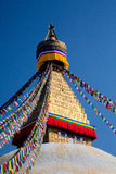 Boudhanath stupa from nepal Royalty Free Stock Photos