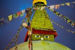 Boudhanath Stupa at night Stock Photos