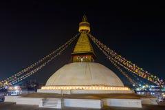 Boudhanath stupa at night Royalty Free Stock Photo