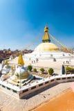 Boudhanath Stupa People High Angle View V Stock Photo