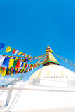 Boudhanath Stupa Second Level Prayer Flags V Stock Photography