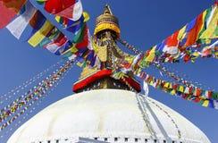 Boudhanath Stupa, symbol av Katmandu, Nepal Royaltyfri Bild