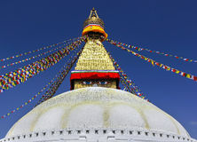 Boudhanath Stupa, symbol of Kathmandu, Nepal Royalty Free Stock Photos