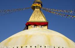 Boudhanath Stupa Top Stock Photo