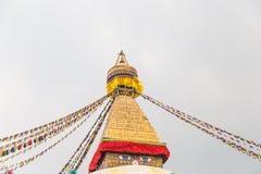 Boudhanath Stupa, uno de los stupas esféricos más grandes de Nepal Foto de archivo libre de regalías