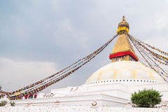 Boudhanath Stupa, uno de los stupas esféricos más grandes de Nepal Fotografía de archivo