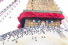 Boudhanath Stupa, uno de los stupas esféricos más grandes de Nepal Fotos de archivo