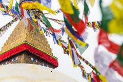 Boudhanath Stupa, uno de los stupas esféricos más grandes de Nepal Imagenes de archivo