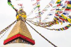 Boudhanath Stupa, uno de los stupas esféricos más grandes de Nepal Imagen de archivo libre de regalías