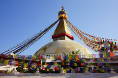 Boudhanath stupa w Kathmandu dolinie Obrazy Stock