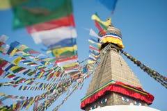 Boudhanath stupa w Kathmandu dolinie, Nepal Zdjęcie Royalty Free