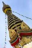 Boudhanath stupa w Kathmandu, Nepal fotografia royalty free