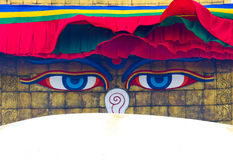 Boudhanath stupa w Kathmandu, Nepal Obrazy Stock