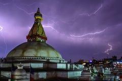 Boudhanath stupa w Kathmandu, Nepal Zdjęcie Royalty Free