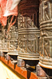 Boudhanath temple bells  in the Kathmandu valley Royalty Free Stock Images