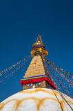 Boudhanath temple in Kathmandu Royalty Free Stock Images
