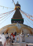 boudhanathkathmandu stupa Royaltyfria Bilder