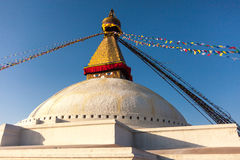 Boudhanathstupa in Katmandu, Nepal Stock Afbeelding