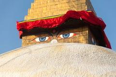 Boudhanathstupa in Katmandu, Nepal Royalty-vrije Stock Afbeelding