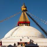 Boudhanathstupa in Katmandu, Nepal Royalty-vrije Stock Afbeeldingen