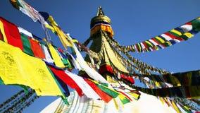 Boudhanathtempel in Katmandu Stock Afbeeldingen