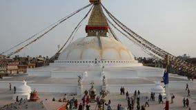 Boudhnath Stupa,加德满都,尼泊尔 免版税图库摄影