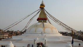 Boudhnath Stupa, Kathmandu, Nepal stock video