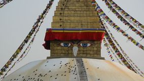 Boudhnath Stupa, Katmandu, Nepal Arkivfoton
