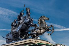 Boudicastandbeeld - de Brug van Londen Royalty-vrije Stock Afbeelding