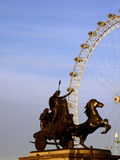 Boudicca with the London Eye Royalty Free Stock Photo