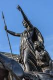 Boudiccan revoltmonument i London Royaltyfri Bild