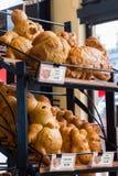Boudin Bakery, San Francisco, California, whimsical animal shaped sourdough bread stock image