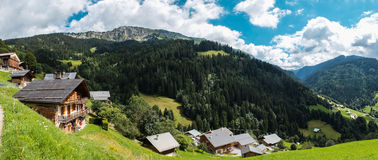 Boudin, village in the french alps, France. View of Boudin, a small village in the french alps, prefecture of Savoie, France Royalty Free Stock Image
