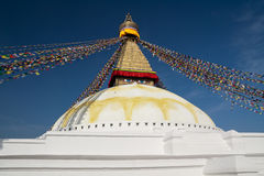 Boudnath stupa Stock Photo