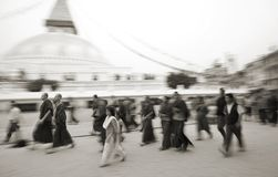 Boudnath Stupa no Kathmandu Valley, Nepal Imagem de Stock