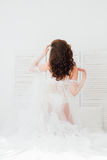 Boudoir bride`s morning Stock Photos