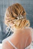 Boudoir bride`s morning Stock Photo