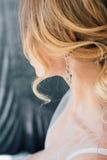 Boudoir bride`s morning Stock Images