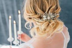 Boudoir bride`s morning Royalty Free Stock Photos