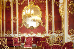 The Hermitage. The boudoir of Empress Maria Alexandrovna, St Petersburg Russia Royalty Free Stock Image