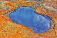 Boue de ébullition dans la région géothermique de Namafjall, Hverir, Islande Photographie stock libre de droits