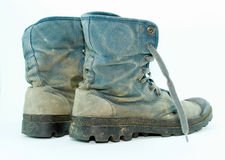 Boue de chaussures de toile sale photo libre de droits