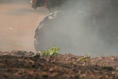 Boue et fumée Photo stock