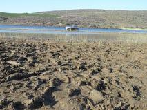 Boue et scène de sécheresse photos libres de droits